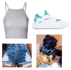 """""""Gm☀️✨"""" by omgitskaay ❤ liked on Polyvore featuring Glamorous and NIKE"""