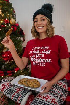 Adorable Christmas Pajamas From 3 Sisters Womens Christmas Pajamas, Holiday Pajamas, Christmas Sweaters, Xmas Movies, Movie Tees, Christmas Morning, Sisters, Christmas Jumper Dress, Tacky Sweater