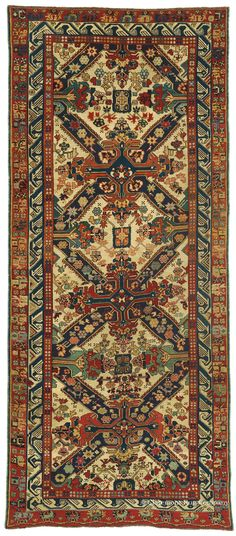 SEICHUR KUBA, Northeast Caucasian (SOLD) 4ft 2in x 9ft 2in 2nd Quarter, 19th Century http://gallery.claremontrug.com/gallery/?p=1