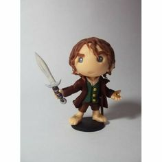 Bilbo - Lord of the Rings Cute Polymer Clay, Fimo Clay, Polymer Clay Creations, Bolo Hobbit, Clay Projects, Clay Crafts, Polymer Characters, The Hobbit Characters, Clay Figurine
