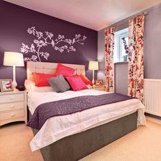 Chambre aubergine chambre pinterest chambre for Chambre adulte coloree