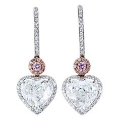1stdibs - 4.41ctw Heart Diamond Dangle Earrings explore items from 1,700  global dealers at 1stdibs.com