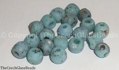 50g Czech Vintage Sintered Saucer Beads 12mm by TheCzechGlassBeads