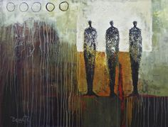 "Jeanne Bessette at Mirada Fine Art, Cycles, Mixed Media/Acrylic on Canvas, 36"" x 48"""