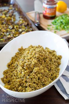 Quinoa Lentil Salad - Roasted Brussels Sprouts | A Spicy Perspective