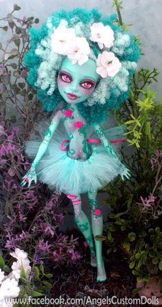 Gaea Honey Swamp Monster High Repaint by angelcardart on Etsy