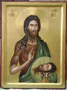 Sf. Ioan Botezătorul Byzantine Icons, Byzantine Art, Holly Pictures, Christian Mysticism, Saints, Saint John, John The Baptist, Orthodox Icons, Religious Art