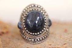 Indigo Blue Sodalite Ring Sterling Silver Boho – Yourgreatfinds