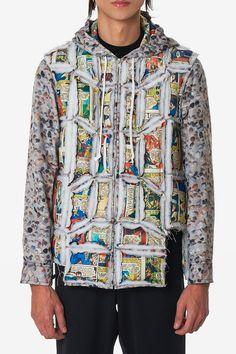 aba5784c1f46 COMME des GARÇONS HOMME Plus Tiled Body Jacket fall winter 2018 release  info comic strip multicolor