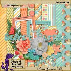 Secret Garden Collab Kit by Digital Gator Designs