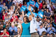 POTUS & FLOTUS at the Columbus, Ohio rally (First official rally of the campaign)