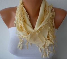 Mother's+Day+Gift++Light+Yellow+Scarf++Pashmina+Scarf++by+fatwoman,+$15.00