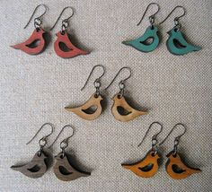 Jbelle designs makes beautiful hand-painted laser-cut wooden earrings and necklaces. Not only are they cute and comfy, but eco-friendly too!