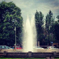 Eine der historischen Hauptfontänen der Gartenstadt Frohnau in Berlin