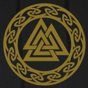 Symboly skandinávský Valhalla | Valknut, Wotan je Knot, Walknot, Odin, Valhalla mikiny: