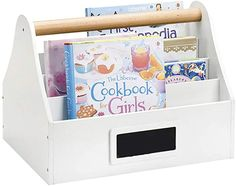 ZXY Kids Bookshelf, Solid Wood Storage Organizer Simple Book Display Stand for Toddlers or Kids Natural Primary-White Bookshelf Table, Bookshelves Kids, Bookcase Storage, Book Storage, Kids Storage, Small Storage, Storage Baskets, Bookcase White, Bookcases