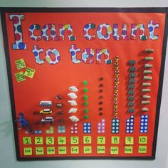 Counting to maths, eyfs Year 1 Classroom, Early Years Classroom, Eyfs Classroom, Classroom Displays Eyfs, Maths Eyfs, Eyfs Activities, Preschool Math, Sorting Activities, Kindergarten
