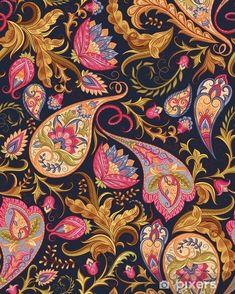 Paisley Art, Paisley Flower, Paisley Design, Paisley Pattern, Pattern Art, Mandala Art, Design Mandala, Wall Patterns, Fabric Patterns