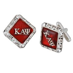 Kappa Alpha Psi cufflinks. I would totes buy them for my boyfriend! If I had one and if he is a kappa that is hahaaha