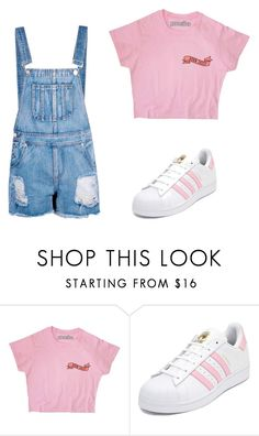 """""""Untitled #210"""" by ipinkiee ❤ liked on Polyvore featuring adidas and Boohoo"""