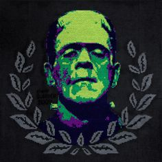 Frankenstein Cross Stitch
