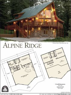 Log Home Plans from Top Log Home Companies