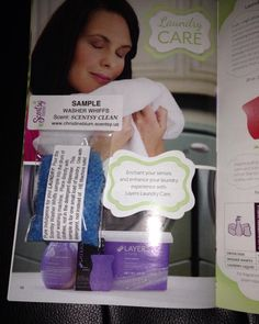 Scentsy washer whiffs sample in the book - Great Sample Idea!! http://BernadetteWard.Scentsy.US Follow Me on FaceBook at: My Scentsy Family Business