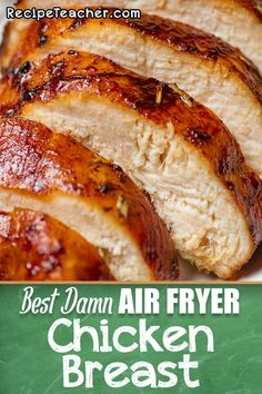 Best Damn Air Fryer Chicken Breast – RecipeTeacher Tender and juicy boneless, skinless chicken breast cooked to perfection in an air fryer. No breading! Just simple ingredients in a delicious marinade. Air Frier Recipes, Air Fryer Oven Recipes, Air Fryer Dinner Recipes, Air Fryer Recipes Chicken Breast, Air Fryer Cake Recipes, Recipes With Chicken Breast Easy, Chicken Breats Recipes, Air Fryer Chicken Tenders, Frozen Chicken Recipes