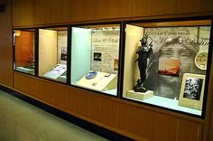 Design ideas; Exhibit cases in the galleria highlight Oregon history and culture.