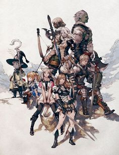Concept art of Character Races from Final Fantasy XIV: A Realm Reborn by Akihiko Yoshida Final Fantasy Xiv, Artwork Final Fantasy, Final Fantasy Tactics, Fantasy Concept Art, Fantasy Armor, Character Art, Character Design, Ffxiv Character, Anime Characters