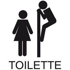 Sticker WC Signalétique toilette
