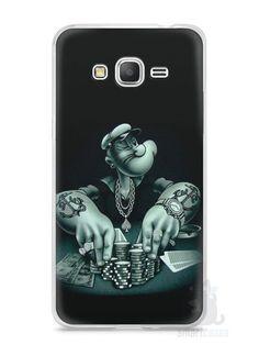 Capa Samsung Gran Prime Popeye Jogando Poker - SmartCases - Acessórios para celulares e tablets :)