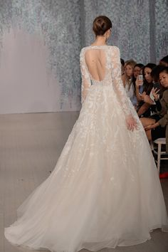 One of 23 Wedding Dresses That Are Even Prettier from the Back  - ELLE.com - MONIQUE LHUILLIER (=)