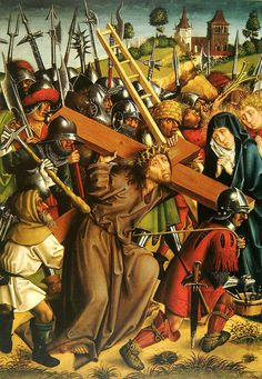 Master of the Karlsruhe Passion - Christ Carrying the Cross - Meister der Karlsruher Passion – Wikipedia