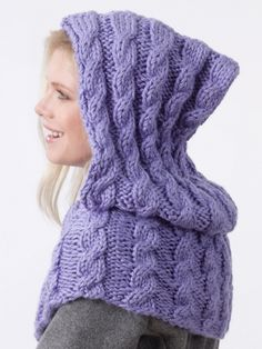 Looks awesome and easy--will try. Maybe in red like Red Riding Hood lol! --Pia (Shoulder Hoodie | Yarn | Free Knitting Patterns | Crochet Patterns | Yarnspirations)