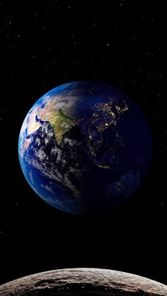 Wallpaper Earth, Planets Wallpaper, Wallpaper Space, Galaxy Wallpaper, Space Planets, Space And Astronomy, Space Backgrounds, Wallpaper Backgrounds, Earth View From Space