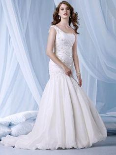 vestidos elegantes um casamento ombro por veryonsale