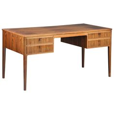 Danish Rosewood Desk, circa 1950s | From a unique collection of antique and modern desks and writing tables at https://www.1stdibs.com/furniture/tables/desks-writing-tables/