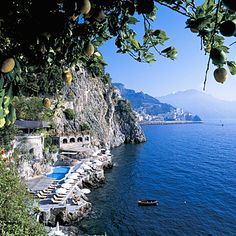 Best Beach Hotels in the World: Hotel Santa Caterina, Amalfi, Italy. With guests including Liz and Dick and Brad and Angelina, the allure of this late-19th-century villa that has been owned by the same family for more than four generations seems as timeless as its beauty. Coastalliving.com