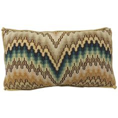 18th Century Bargello Tapestry Lumbar Pillow   From a unique collection of antique and modern pillows and throws at https://www.1stdibs.com/furniture/more-furniture-collectibles/pillows-throws/