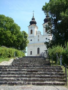 Steps to the Abbey at Tihany, Hungary
