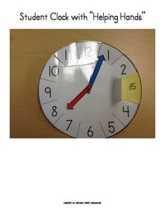 Telling time to the nearest 5 minutes.  Differentiated lesson