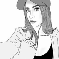 500th Pin please follow @aalicorrea on Pinterest Tumblr Outline, Outline Art, Outline Drawings, Pencil Art Drawings, Tumblr Girl Drawing, Girl Drawing Sketches, Venice Beach, Tumbler Drawings, Hipster Doodles