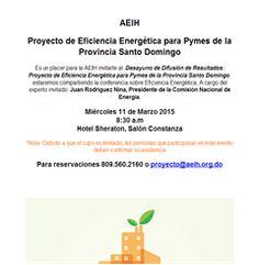 Proyecto de Eficiencia Energética para Pymes de la Provincia Santo Domingo  -Publicidad