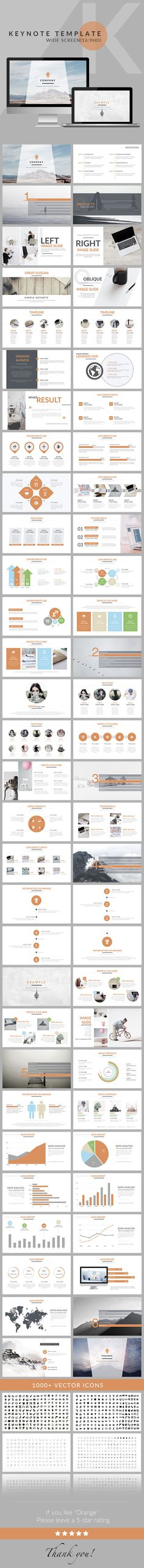Orange - Clean trend business Keynote Template. Download here: http://graphicriver.net/item/orange-clean-trend-business-keynote-template/16360275?ref=ksioks