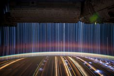 Stunning Long-Exposure Space Photos  These incredible 'star trails' photos were taken aboard the International Space Station by Expedition 31 Flight Engineer Don Pettit. Prepare yourself for launch.