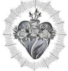 Výsledek obrázku pro realistic sacred heart drawing