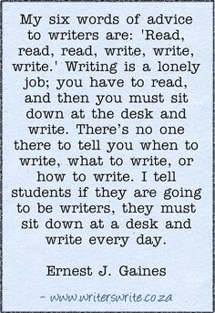 6 words of advice for writers