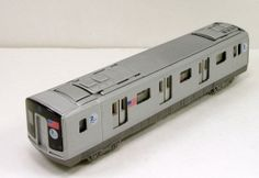 "Old NYC Subway Trains | New York City MTA subway E train car 7.5"" diecast model with light ..."