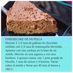 Cheesecake de Nutella en #RutaOasis @OasisFMChile